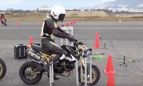オートバイの練習会