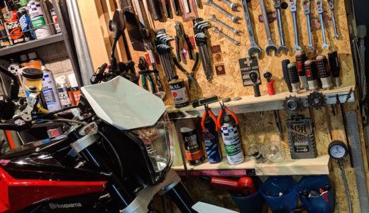 ガレージ 工具棚ラベル追加