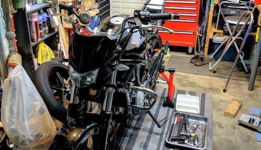 VTR250 タイヤ交換