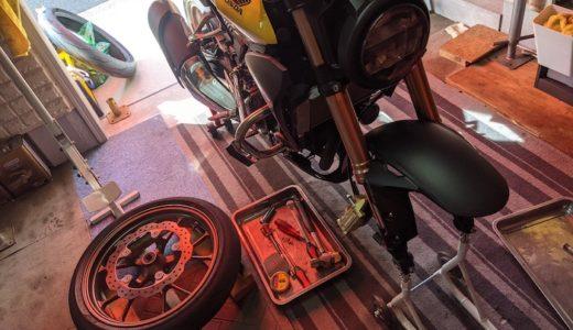 CB250R オイル交換・タイヤ交換